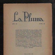Coleccionismo de Revistas y Periódicos: LA PLUMA. AÑO III. Nº 28. VALLE-INCLAN, PEDRO DE RIVADENEIRA, PAUL COLIN, PUCCINI. LEER. Lote 43194899