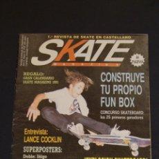 Coleccionismo de Revistas y Periódicos: REVISTA SKATE MAGAZINE 1991 AÑO 2 Nº 10 COMPLETA POSTERS ORIGINALES Y CALENDARIO DIFICIL. Lote 43209470