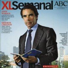 Coleccionismo de Revistas y Periódicos: REVISTA XL SEMANAL. JOSÉ MARÍA AZNAR, ANDY WARHOL, JOSÉ MARÍA POU. 2013. Lote 43375418