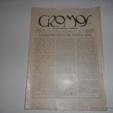 Coleccionismo de Revistas y Periódicos: ANTIGUA REVISTA SEMANAL ILUSTRADA CROMOS BOGOTA JULIO 1922. Lote 43462544