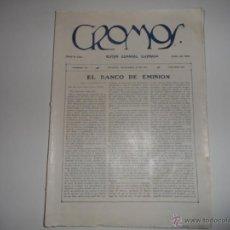 Coleccionismo de Revistas y Periódicos: ANTIGUA REVISTA SEMANAL ILUSTRADA CROMOS BOGOTA JULIO 1921 - BOXEADOR NICOLAS CABRAL. Lote 43462570