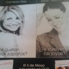 Coleccionismo de Revistas y Periódicos: RECORTES CAMERON DIAZ SARAH JESSICA PARKER. Lote 43474093