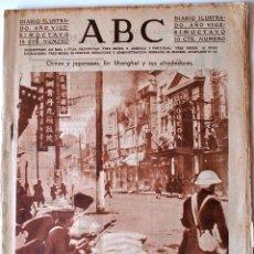 Coleccionismo de Revistas y Periódicos: ABC DIARIO ILUSTRADO. 29 FEBRERO 1932. BOMBARDEO SHANGHAI. ESGRIMA.BILLAR.FOTOGRAFIAS FUTBOL. ALAVES. Lote 43483061