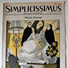 Coleccionismo de Revistas y Periódicos: REVISTA SATÍRICA ALEMANA SIMPLICISSIMUS, 10 DICIEMBRE 1955. Lote 43540118
