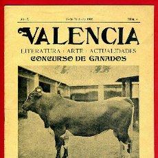 Coleccionismo de Revistas y Periódicos: REVISTA VALENCIA , LITERATURA ARTE , CONCURSO GANADOS , Nº 4 , 1909 . ORIGINAL ,BO. Lote 43585356
