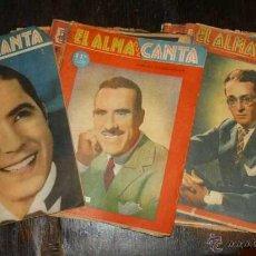 Coleccionismo de Revistas y Periódicos: ANTIGUO LOTE DE 21 REVISTAS DE TANGO -EL ALMA QUE CANTA- LOS MAS FAMOSAS VOCES DEL TANGO 1950. Lote 43616830