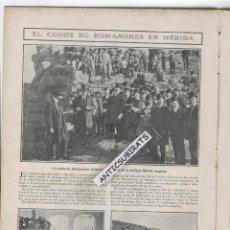 Coleccionismo de Revistas y Periódicos: REVISTA 1907 ROMANONES EN MERIDA LAGO DE PROSERPINA CAVA CHAMPAGNE MOET CHANDON PIANISTA PABLO MARTI. Lote 43697220