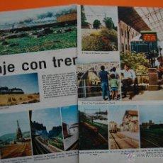 Coleccionismo de Revistas y Periódicos: RENFE FERROCARRIL - ARTICULO REVISTA 01/1968 - MUCHAS FOTOS ESTACIONES 4 PAG. VER INTER. REUS, CAMPR. Lote 43721906