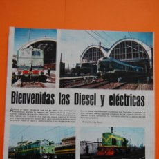 Coleccionismo de Revistas y Periódicos: RENFE FERROCARRIL - ARTICULO REVISTA 01/1968 - BIENVENIDA LOCOMOTORAS DIESEL Y ELECTRICAS 1 PAG.. Lote 43721945