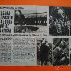 Coleccionismo de Revistas y Periódicos: RENFE FERROCARRIL-ARTICULO REVISTA NOVIEMBRE 1967 -CLAUSURA DEPOSITO TRACCION MADRID ATOCHA - 2 PAG.. Lote 43722169
