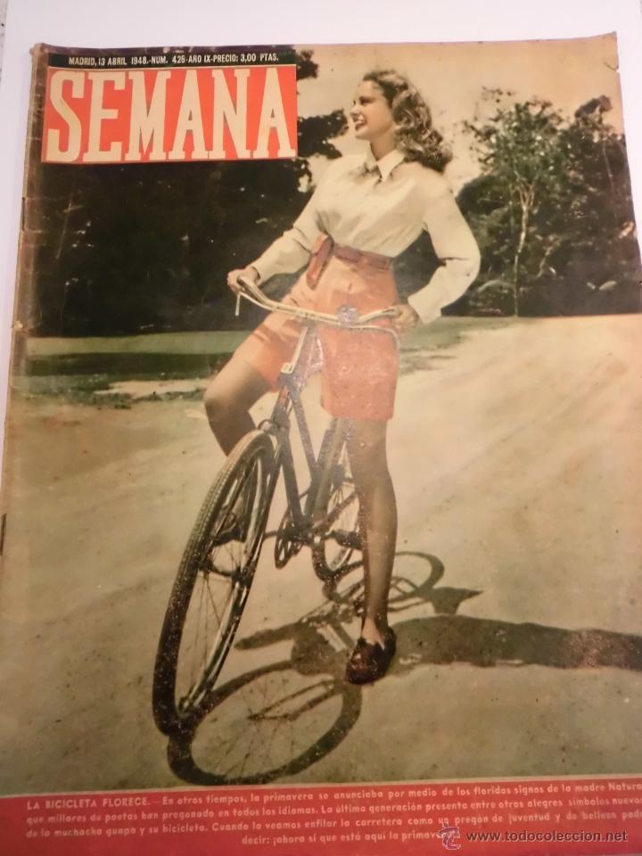 REVISTA SEMANA - NUM 425 AÑO IX - ABRIL 1948 (Coleccionismo - Revistas y Periódicos Modernos (a partir de 1.940) - Otros)