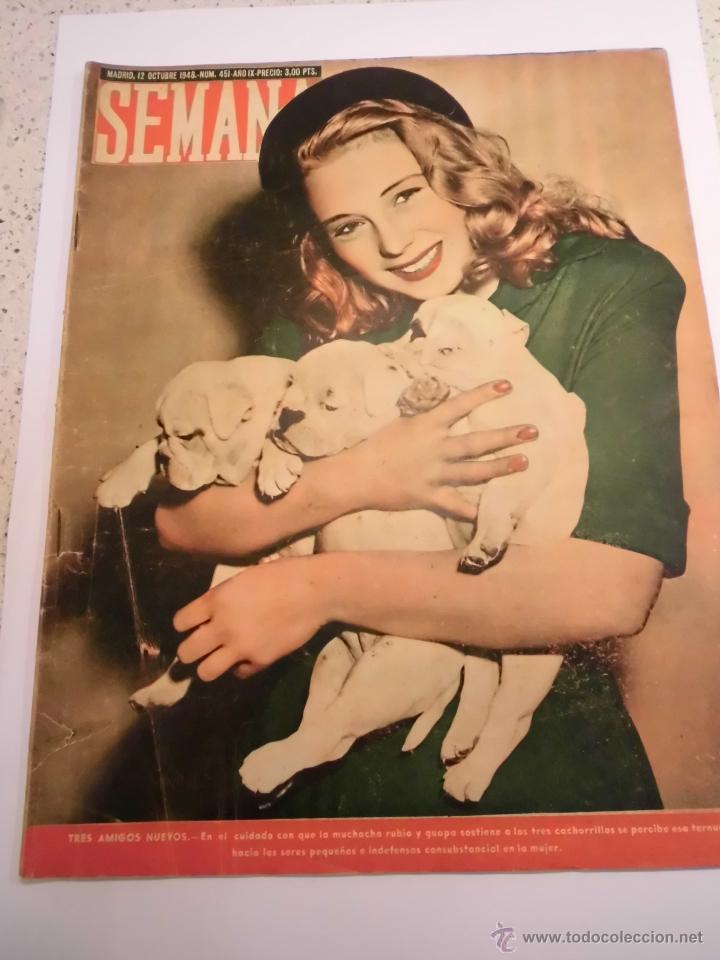 REVISTA SEMANA - NUM 451 AÑO IX - OCTUBRE 1948 (Coleccionismo - Revistas y Periódicos Modernos (a partir de 1.940) - Otros)