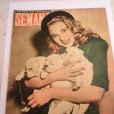 Coleccionismo de Revistas y Periódicos: REVISTA SEMANA - NUM 451 AÑO IX - OCTUBRE 1948. Lote 43735810