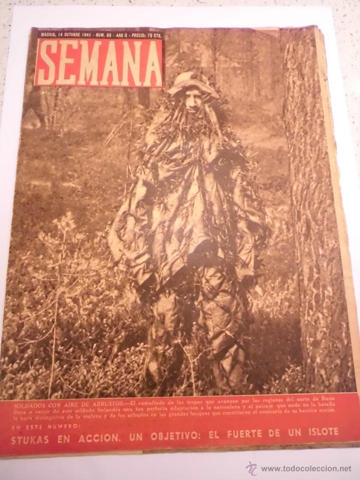 REVISTA SEMANA - NUM 86 AÑO II - OCTUBRE 1941 (Coleccionismo - Revistas y Periódicos Modernos (a partir de 1.940) - Otros)