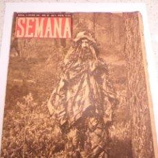 Coleccionismo de Revistas y Periódicos: REVISTA SEMANA - NUM 86 AÑO II - OCTUBRE 1941. Lote 43737073