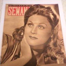 Coleccionismo de Revistas y Periódicos: REVISTA SEMANA - NUM 189 AÑO IV - OCTUBRE 1943. Lote 43737091