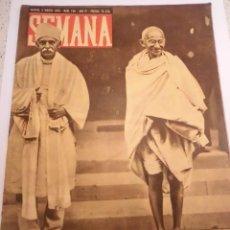 Coleccionismo de Revistas y Periódicos: REVISTA SEMANA - NUM 158 AÑO IV - MARZO 1943. Lote 43739600