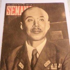 Coleccionismo de Revistas y Periódicos: REVISTA SEMANA - NUM 109 AÑO III - MARZO 1942. Lote 43739685