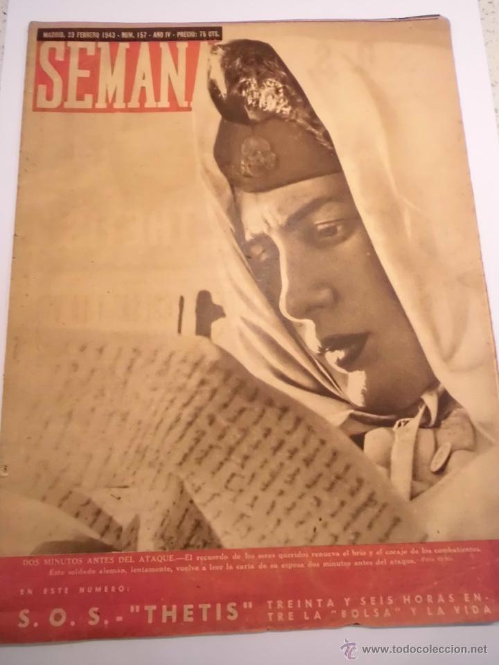 REVISTA SEMANA - NUM 157 - FEBRERO 1943 (Coleccionismo - Revistas y Periódicos Modernos (a partir de 1.940) - Otros)
