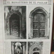 Coleccionismo de Revistas y Periódicos: SANTA MARIA DEL PAULAR. MADRID. AÑO 1919 RECORTE DE REVISTA. GRAN TAMAÑO 23 X 36 CM. Lote 43790948