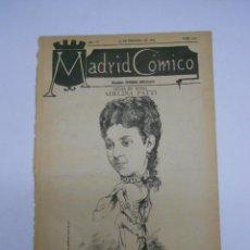 Coleccionismo de Revistas y Periódicos: MADRID CÓMICO.PERIÓDICO 20 FEBRERO 1886 .CARICATURA DE ADELINA PATTI EN PORTADA.24X36 8P.. Lote 218668985