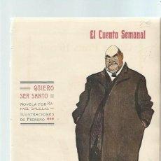 Coleccionismo de Revistas y Periódicos: EL CUENTO SEMANAL, AÑO I 27 DICIEMBRE 1907 Nº 52, QUIERO SER SANTO, RAFAEL SALILLAS. Lote 43961073