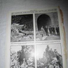 Coleccionismo de Revistas y Periódicos: HUESCA EL TUNEL DE CANFRANC VISITADO POR INGENIEROS PARTE DE ARRIBA HOJA REVISTA MUNDO GRAFICO 1913 . Lote 44003910