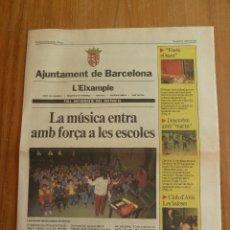 Coleccionismo de Revistas y Periódicos: F 4225 FULL INFORMATIU AJUNTAMENT DE BARCELONA L'EXAMPLE DESEMBRE 1985 - SERRAT AL PALUA. Lote 44029268