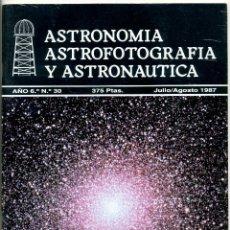 Coleccionismo de Revistas y Periódicos: REVISTA ASTRONOMIA ASTROFOTOGRAFIA Y ASTRONAUTICA - Nº 30 JUL / AGO 1987. Lote 44032315