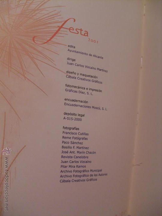 Coleccionismo de Revistas y Periódicos: Festa. Revista Oficial de les Fogueres de Sant Joan. Alicante 2001. - Foto 2 - 44078525