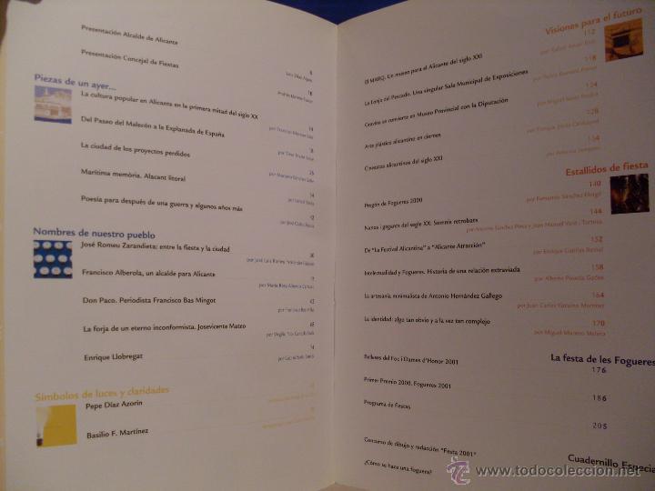 Coleccionismo de Revistas y Periódicos: Festa. Revista Oficial de les Fogueres de Sant Joan. Alicante 2001. - Foto 3 - 44078525