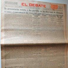 Coleccionismo de Revistas y Periódicos: PERIODICO EL DEBATE 21 OCTUBRE 1932. DIA UNIVERSAL DE LAS MISIONES. Lote 44141809