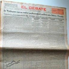 Coleccionismo de Revistas y Periódicos: PERIODICO EL DEBATE 17 OCTUBRE 1932. ATHLETIC CLUB Y BETIS EMAPATAN. GUARDIA CIVIL CONGRESO UGT. Lote 44149701