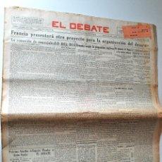 Coleccionismo de Revistas y Periódicos: PERIODICO EL DEBATE 10 OCTUBRE 1932. ESQUERRA, DUEÑA DE LA GENERALIDAD, ESPAÑOL VENCE AL BARÇA. Lote 44150023