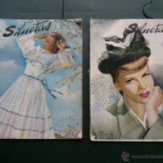Coleccionismo de Revistas y Periódicos: ANTIGUA REVISTA SILUETAS .AÑO;1948 - MODA, DECORACION, PUBLICIDAD, ARTE, CINE . Lote 44170937