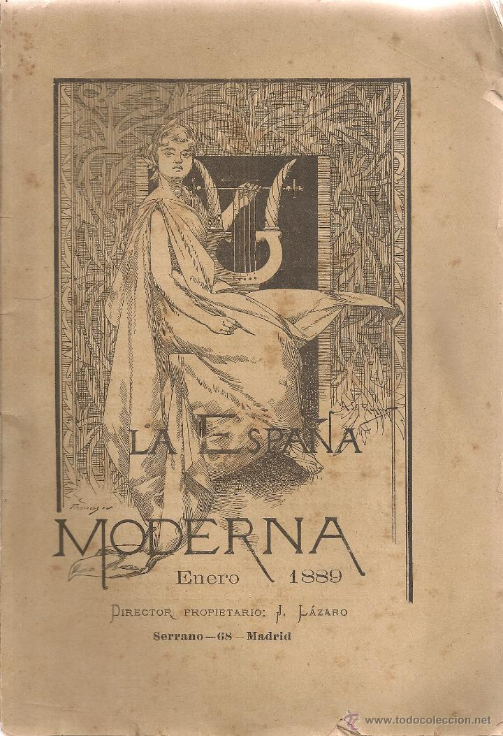 LA ESPAÑA MODERNA. ENERO 1889. MADRID. 25X17CM. 208 P. (Coleccionismo - Revistas y Periódicos Antiguos (hasta 1.939))