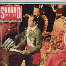 Coleccionismo de Revistas y Periódicos: SABADO GRAFICO Nº 965, 26 NOVIEMBRE 1975 - PROCLAMACION REY ( TRANSICION ). Lote 44224796