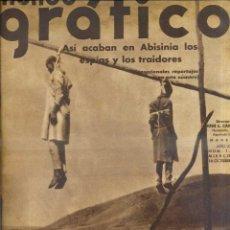 Coleccionismo de Revistas y Periódicos: MUNDO GRÁFICO Nº 1250 - 16 OCTUBRE 1935 INCLUYE MAPA DESPLEGABLE EN COLOR DE ABISINIA. Lote 44239363