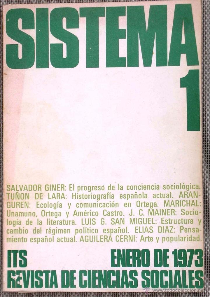SISTEMA - REVISTA DE CIENCIAS SOCIALES, Nº 1 (Coleccionismo - Revistas y Periódicos Modernos (a partir de 1.940) - Otros)