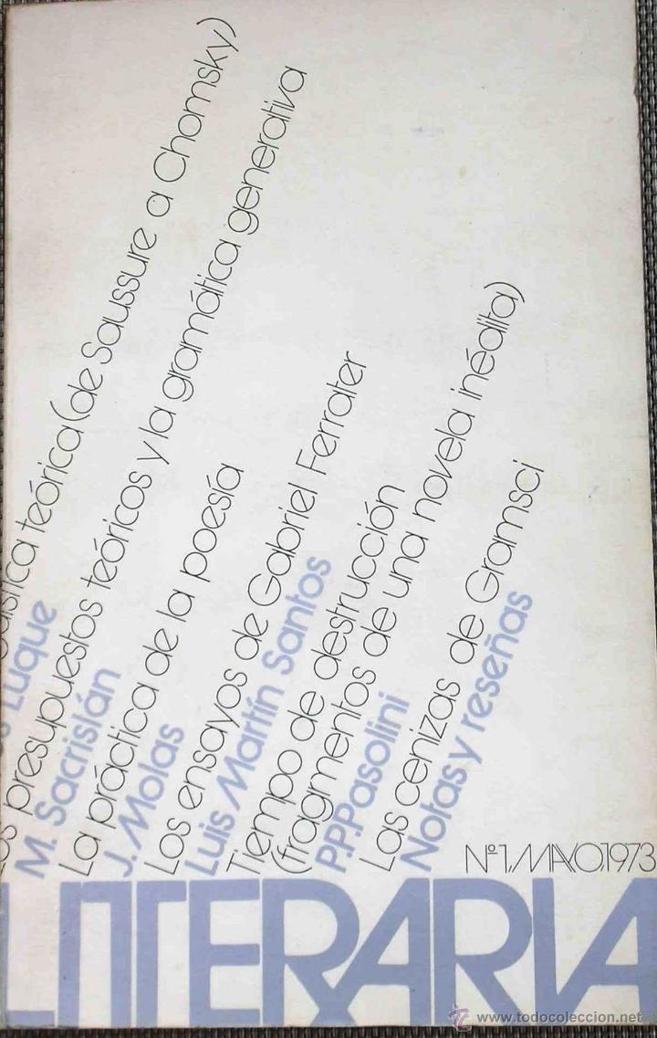 LITERATURA. GACETA LITERARIA, Nº 1, 1973 (Coleccionismo - Revistas y Periódicos Modernos (a partir de 1.940) - Otros)