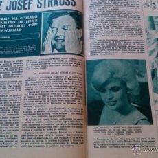 Coleccionismo de Revistas y Periódicos: RECORTE JAYNE MANSFIELD. Lote 44279662