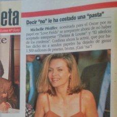 Coleccionismo de Revistas y Periódicos: RECORTE MICHELLE PFEIFFER. Lote 44294643