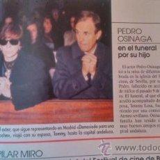 Coleccionismo de Revistas y Periódicos: RECORTE PEDRO OSINAGA. Lote 44294935