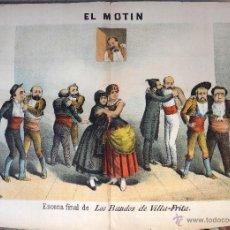 Coleccionismo de Revistas y Periódicos: EL MOTIN , Nº 36 , 1884 , SIGLO XIX , LOS BANDOS DE VILLA FRITA , CARTEL LITOGRAFIA, ORIGINAL. Lote 44303182