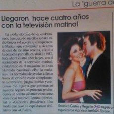 Coleccionismo de Revistas y Periódicos: RECORTE VERONICA CASTRO. Lote 44347827