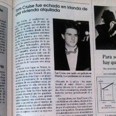 Coleccionismo de Revistas y Periódicos: RECORTE TOM CRUISE. Lote 44348005
