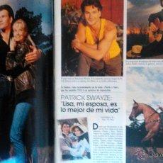 Coleccionismo de Revistas y Periódicos: RECORTE PATRICK SWAYZE NORTE Y SUR ORRY MAIN. Lote 44350574