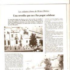 Coleccionismo de Revistas y Periódicos: AÑO 1976 CALELLA LLIBERTAT PAISOS CATALANS MANUEL GERENA HUELGA MOTOR IBERICA DONES VALENTES . Lote 44360024