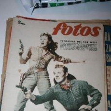 Coleccionismo de Revistas y Periódicos: ANTIGUA REVISTA FOTOS PORTADA CON YVONNE DE CARLO Y HOWARD DIEFF 1949. Lote 44394162
