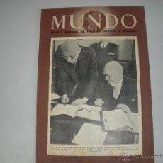 Coleccionismo de Revistas y Periódicos: MUNDO - REVISTA SEMANAL DE POLITICA EXTERIOR Y ECONOMIA AÑO IX - Nº 451. Lote 44460668